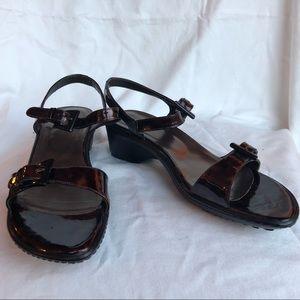 Stuart Weitzman Tortoiseshell Sandals